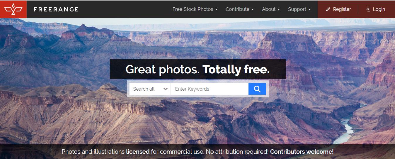 Бесплатные фотобанки для сайта - Freerangestock.com